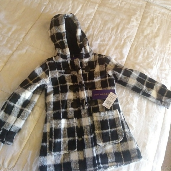 3e196755d3d Madden Girl Jackets & Coats | Faux Wool Black Plaid Coat | Poshmark